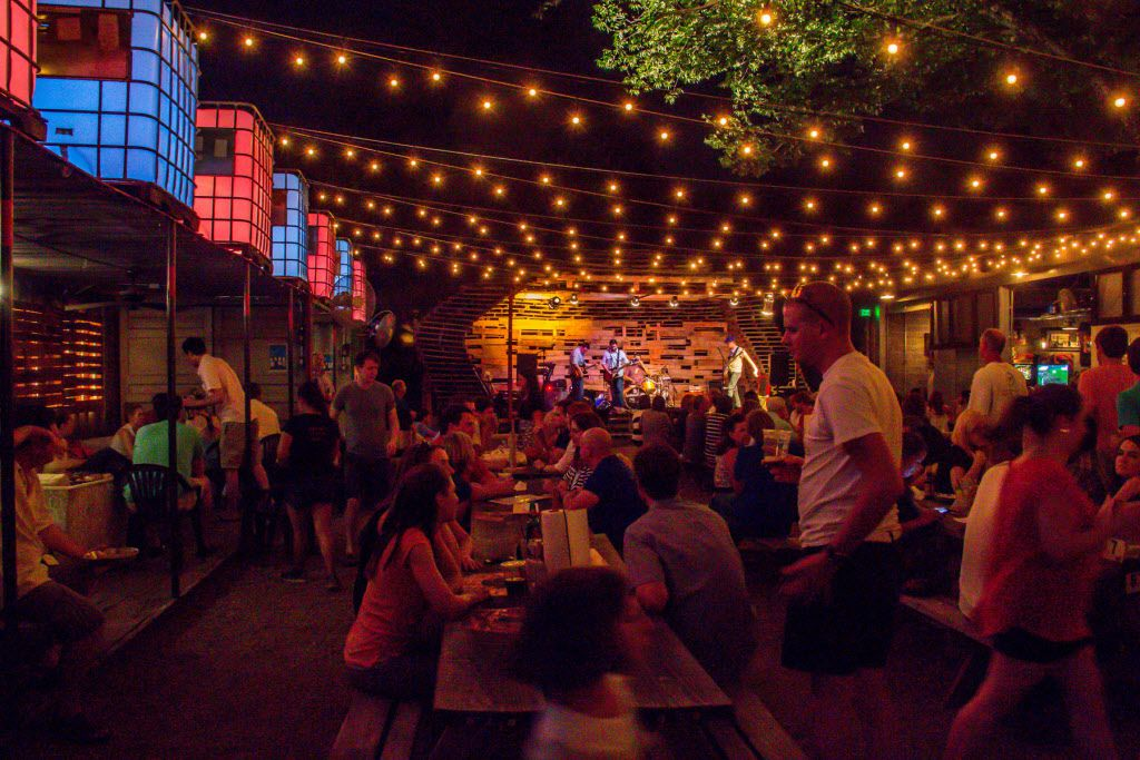 This DMN file photo from several years ago shows the outdoor vibe at The Foundry in West Dallas.