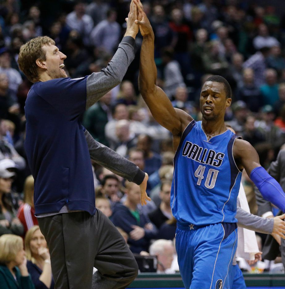 Mavericks' forward Harrison Barnes has had a solid first season in Dallas, unlike the guy he replaced, who has mostly been injured in Memphis.  Neither Barnes nor Dirk Nowitzki will play in the season finale at Memphis. (AP Photo/Jeffrey Phelps)