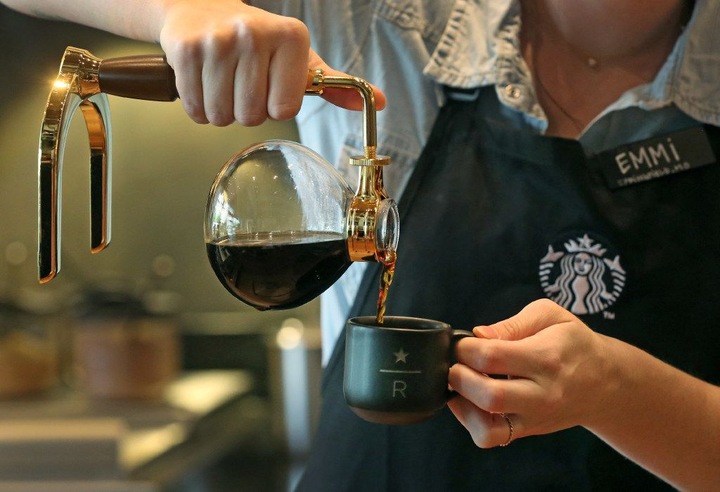 The siphoning technique at Starbucks Reserve Bar is one of the more complicated brewing processes. It's flashy, too.
