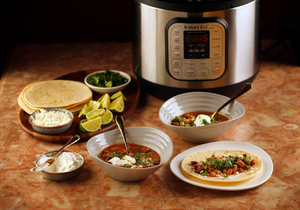 Instant Pot Cowboy Bean Soup made in the trendy multicooker. (Tom Fox/Staff Photographer)