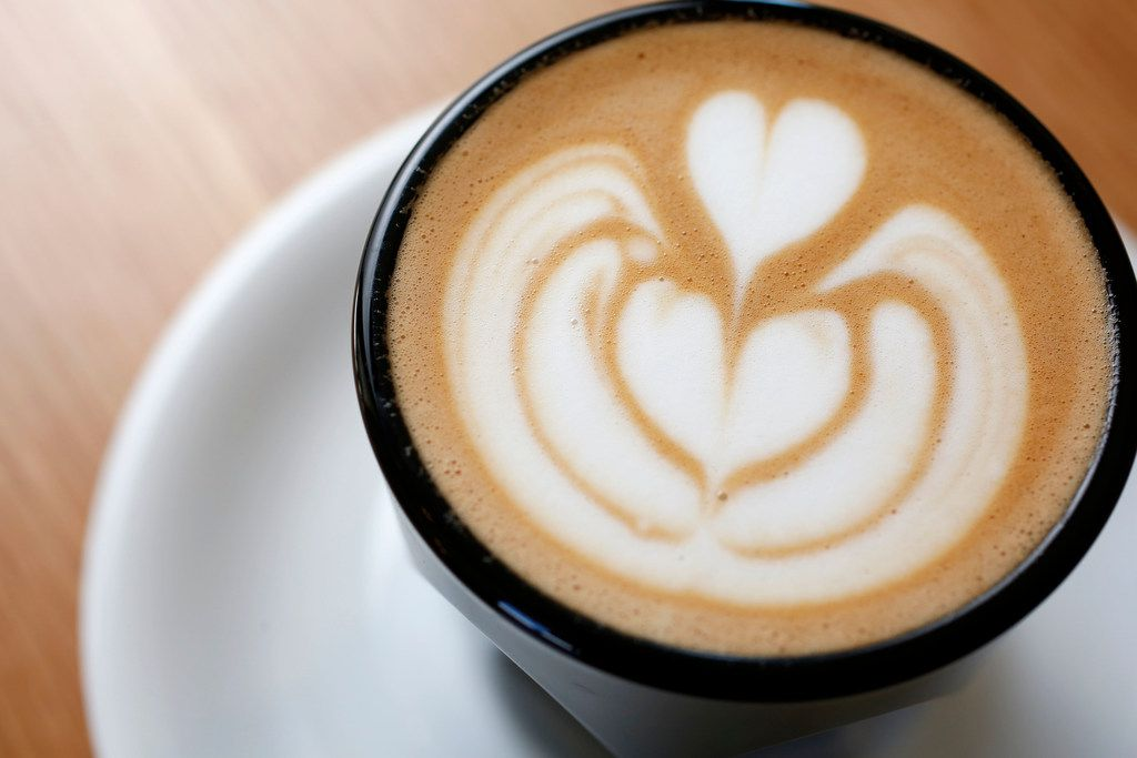 A cortado photographed at Merit Coffee in Deep Ellum in Dallas on Monday, March 25, 2019. (Rose Baca/Staff Photographer)