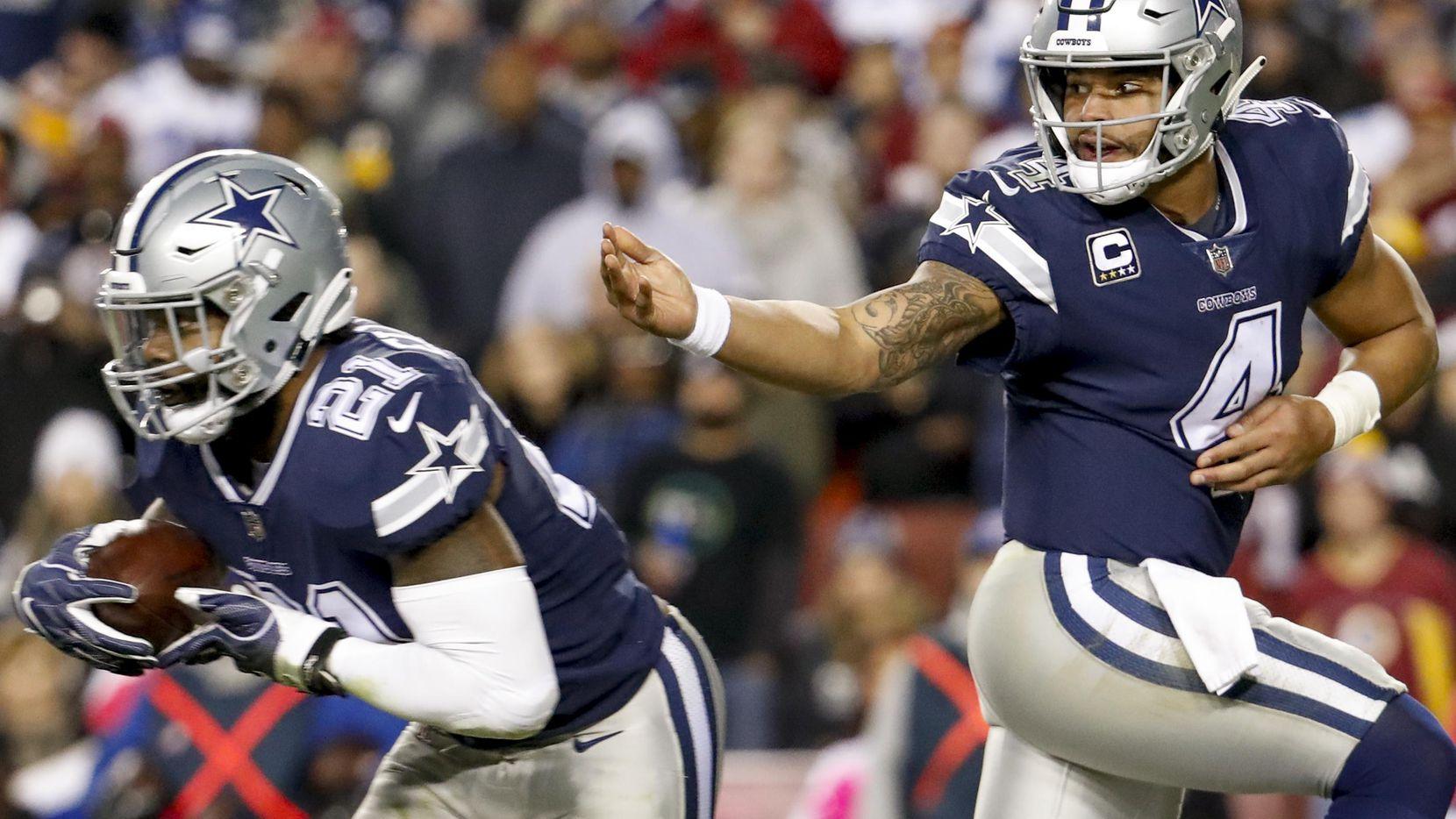 Dak Prescott (4) y los Dallas Cowboys enfrentan a los Titans el lunes por la noche en Arlington. (AP/Andrew Harnik)