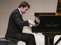 Kenny Broberg performs at Ed Landreth Auditorium at Texas Christian University as part of the PianoTexas International Festival and Academy on June 22, 2021.