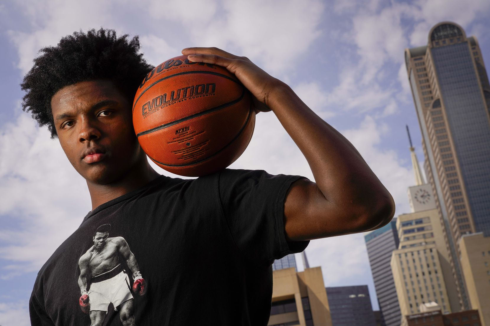 St. Mark's basketball player Harrison Ingram photographed on Monday, April 27, 2020, in Dallas.