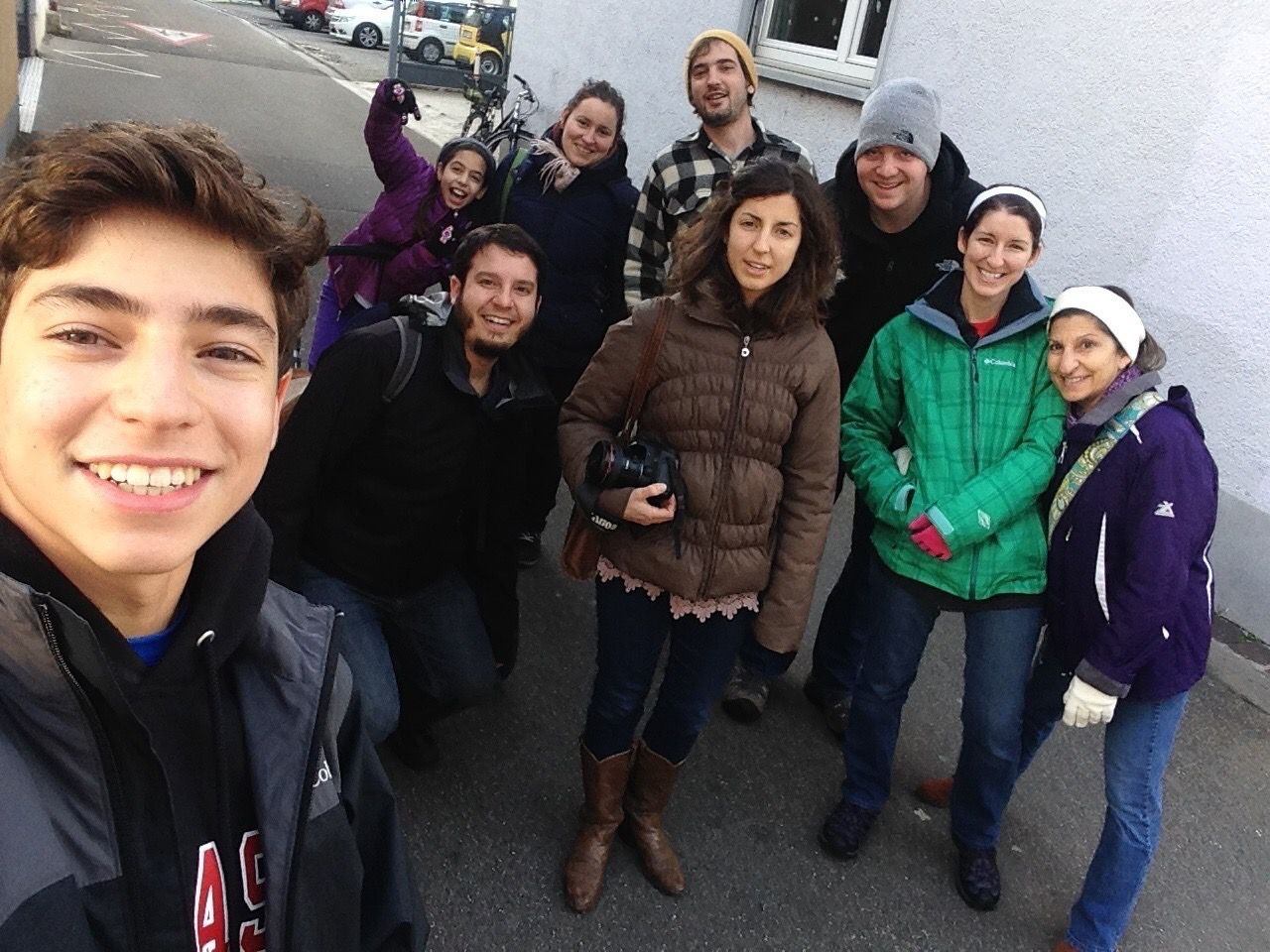 The Ruppel family gathered for the holidays in Freiburg, Germany, in 2014.