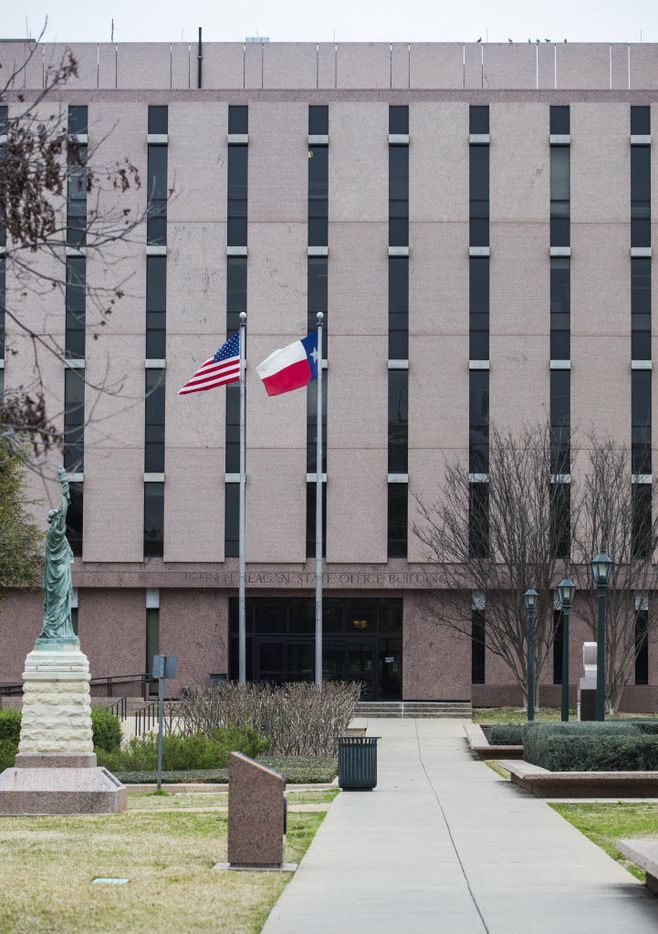 The John H. Reagan State Office Building near the Texas state capitol on Thursday, February 26, 2015 in Austin, Texas.