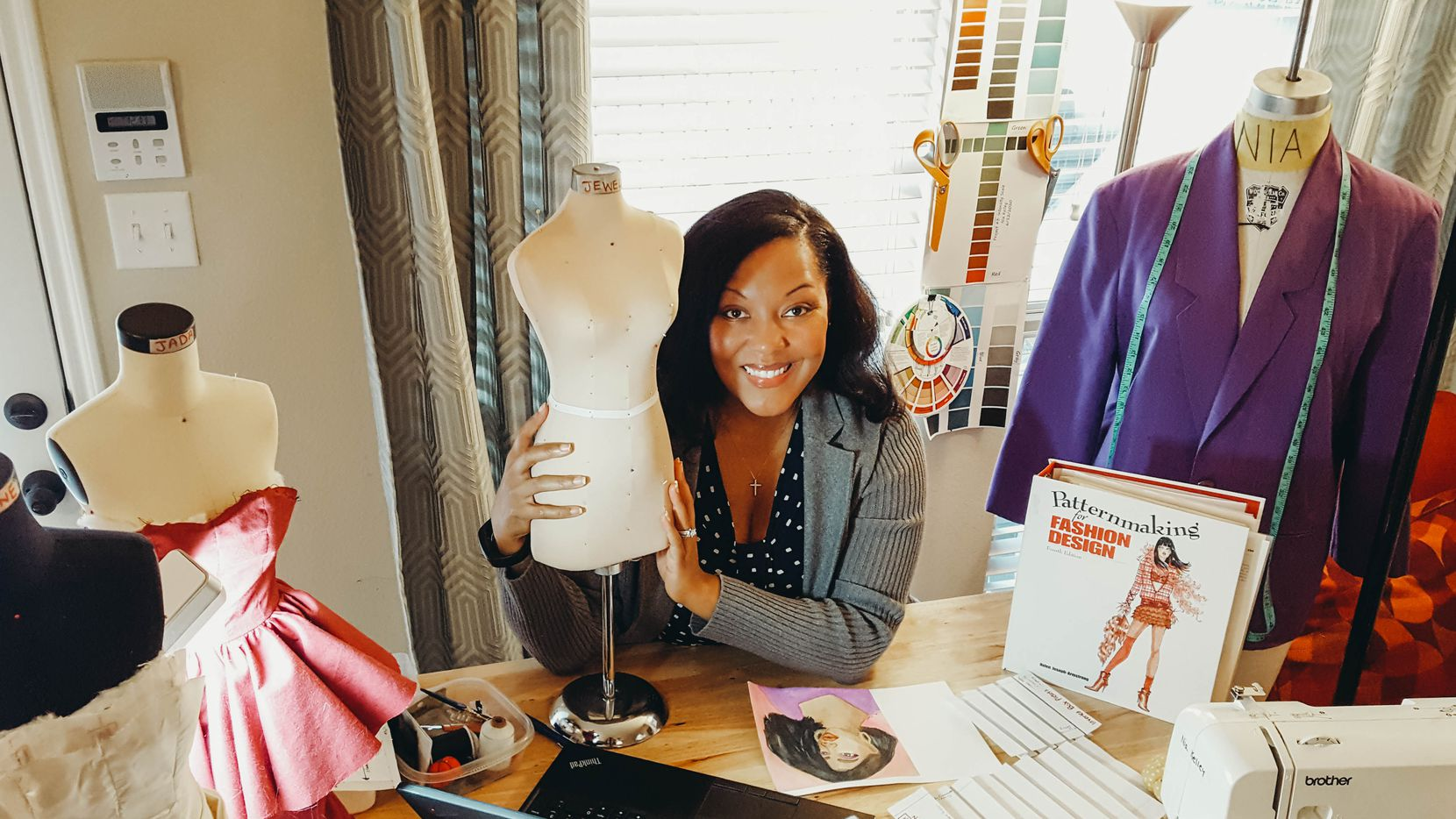 Nia Kelley is building a promising career in fashion after suffering a debilitating stroke in 2014. She says that learning to sew was therapeutic, helping her regain her hand-eye coordination.
