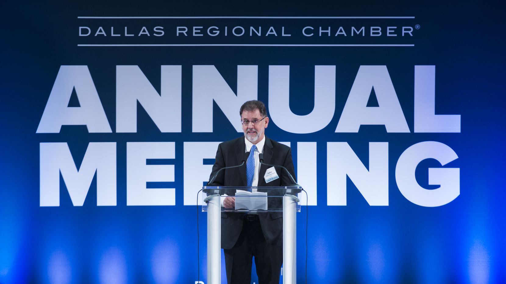 AT&T CFO John Stephens spoke during the Dallas Regional Chamber annual meeting in 2019.