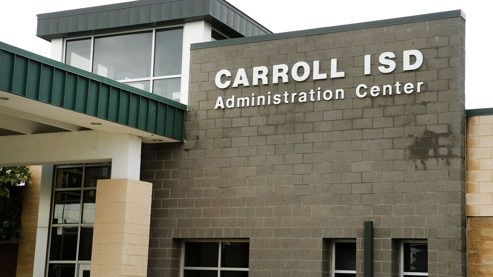 An exterior view of the Carroll ISD Administration Center in Southlake, Texas, Tuesday, June 23, 2020. (Tom Fox/The Dallas Morning News)