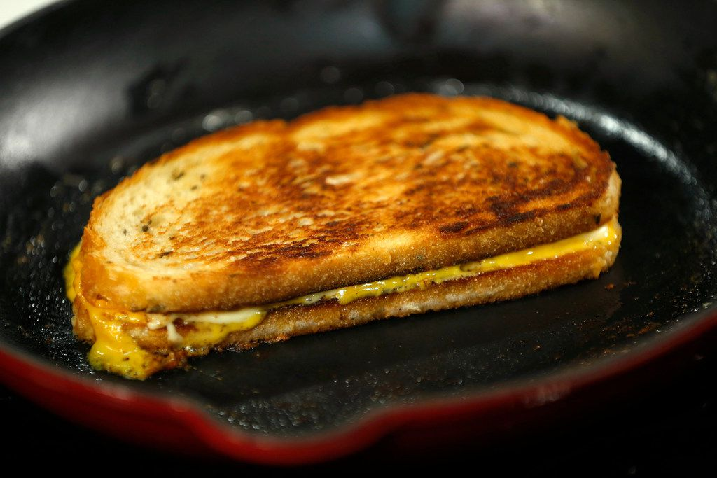 Gouda and cheddar cheese on rosemary bread
