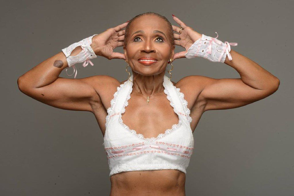 When 80-year-old Ernestine Shepherd isn't training others or herself, she's training with a former Mr. Universe.