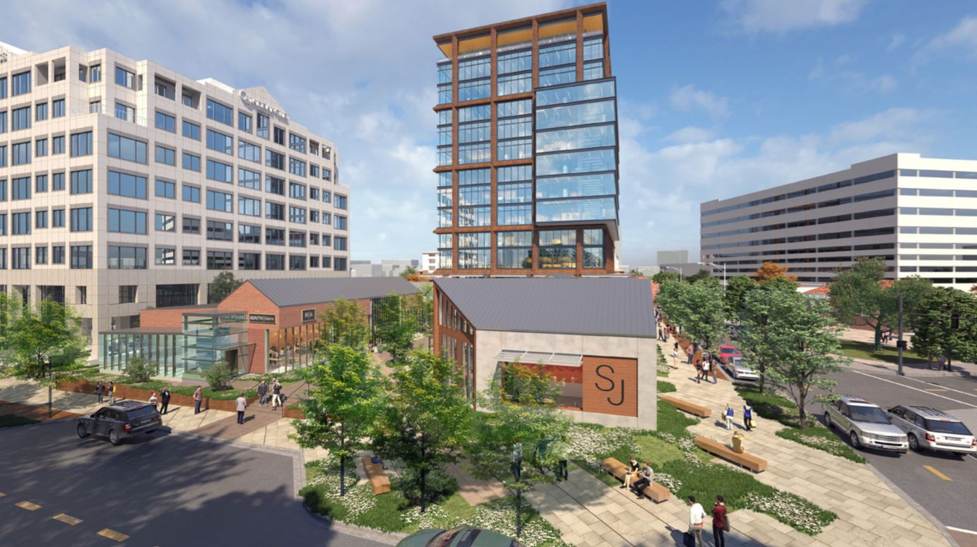 Redevelopment of the Quadrangle includes a new office tower and more retail space.