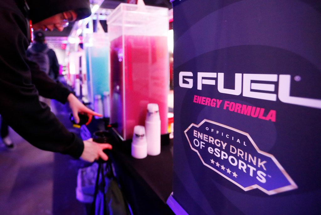 G Fuel station where gamers can test out flavors of the energy drink at the Call of Duty World League tournament at the Dallas Convention Center in Dallas, on Friday, December 8, 2017.
