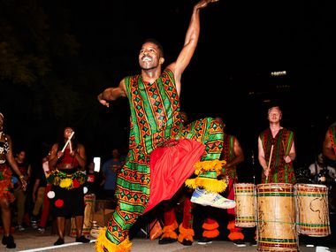Bandan Koro African Drum and Dance Ensemble will perform at the Dallas Arts District's Changing Perspectives 2021. Instead of a block party, the event will feature two concerts, each featuring five arts groups.