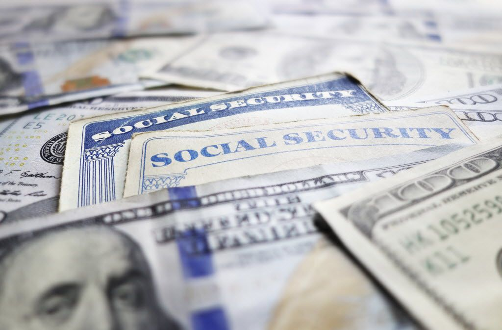 Social Security cards and assorted cash
