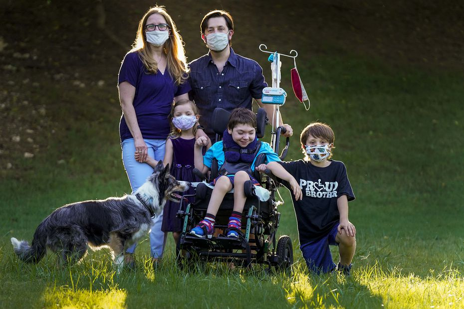 Catherine and Jeff Carlton, shown in their yard with their children (from left) Jenna, Scotty and Jeffrey, urge people to watch out for misinformation stating that children cannot get coronavirus.