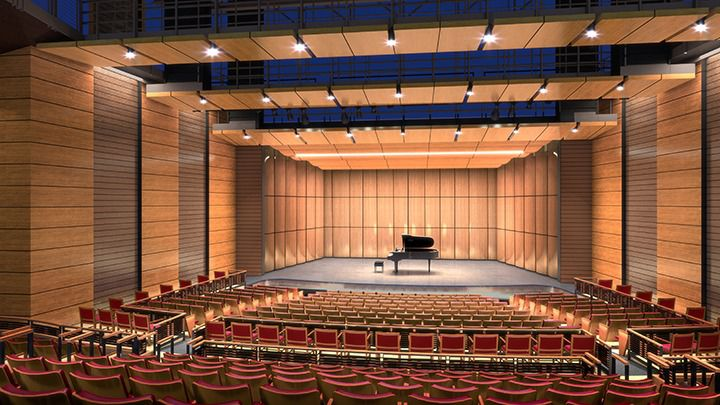 The main hall of the new Coppell Arts Center
