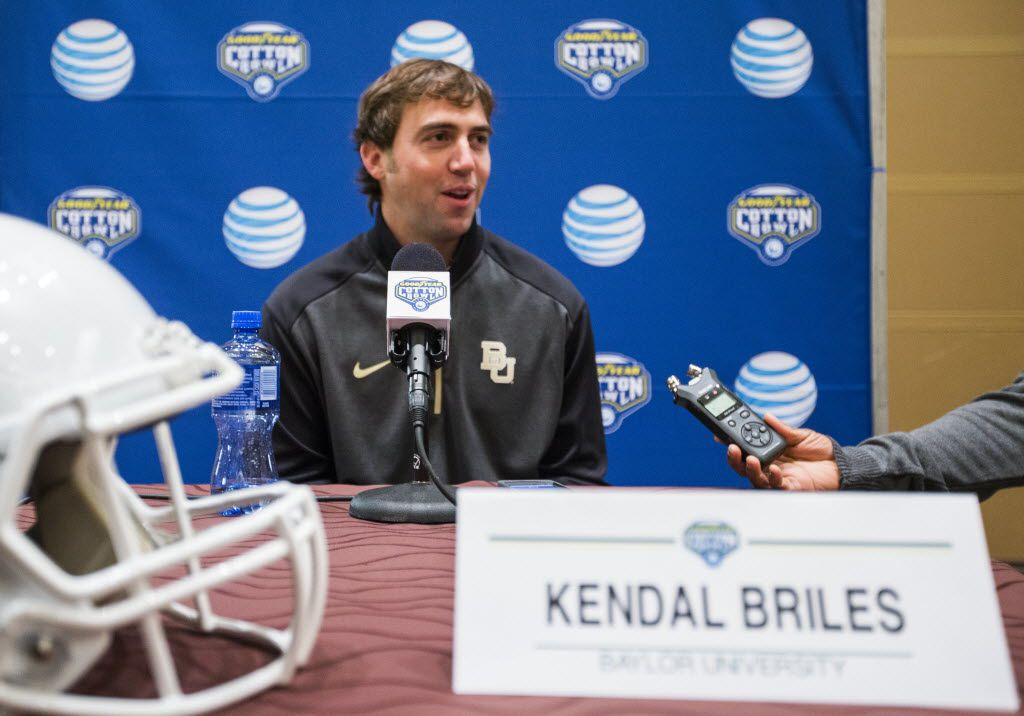 Baylor offensive coordinator Kendal Briles is among several coaches who have submitted their resumes to North Texas, which is looking for a new football coach. (Associated Press file photo)