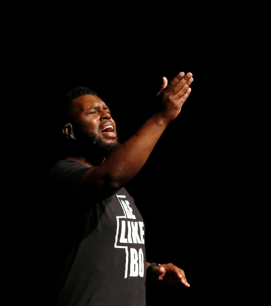 "Jeremy Bonner sings the gospel song ""Let it Rise"" as he prepares to tell his story — including stories about his friend Botham Jean."