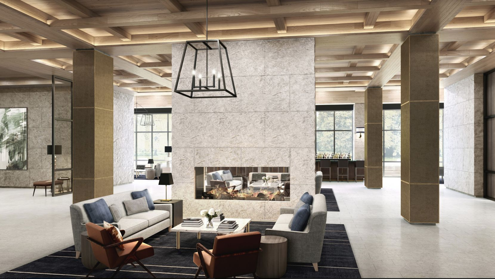 The hotel is being built in what Omni calls a Texas modern style.