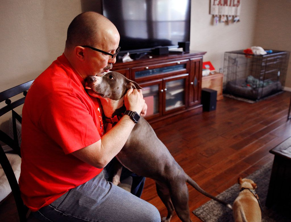 Jeff Meyer, who was born without part of his left arm, found the perfect rescue dog in Whiskey, who lost her leg when she was shot and left for dead.