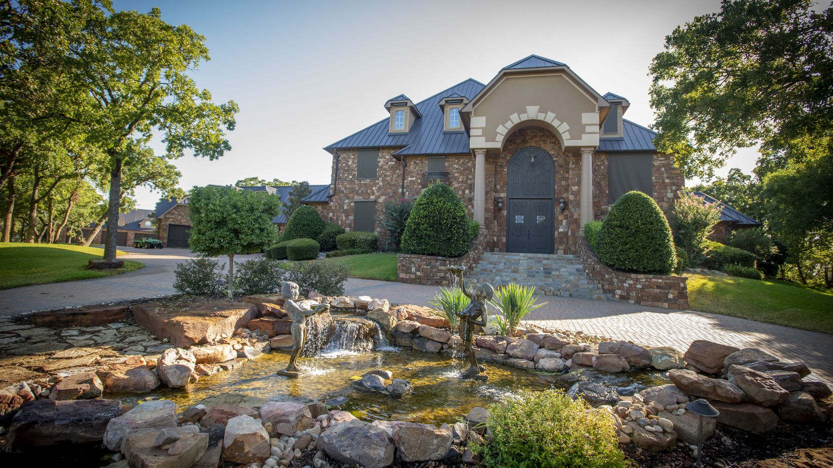 Exterior of main house at 5101 Kensington Ct., in Flower Mound, Texas on August 19, 2020. (Robert W. Hart/Special Contributor)