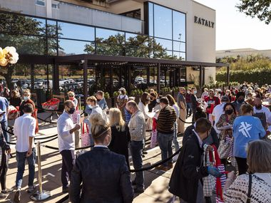 A large crowd outside of Eataly at NorthPark Center as fans and first-timers wait to experience the new store and restaurants.