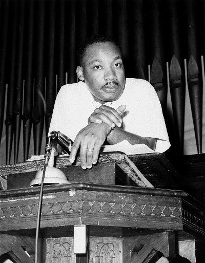 The Rev. Martin Luther King Jr. at a rally in Montgomery, Ala., on May 21, 1961.