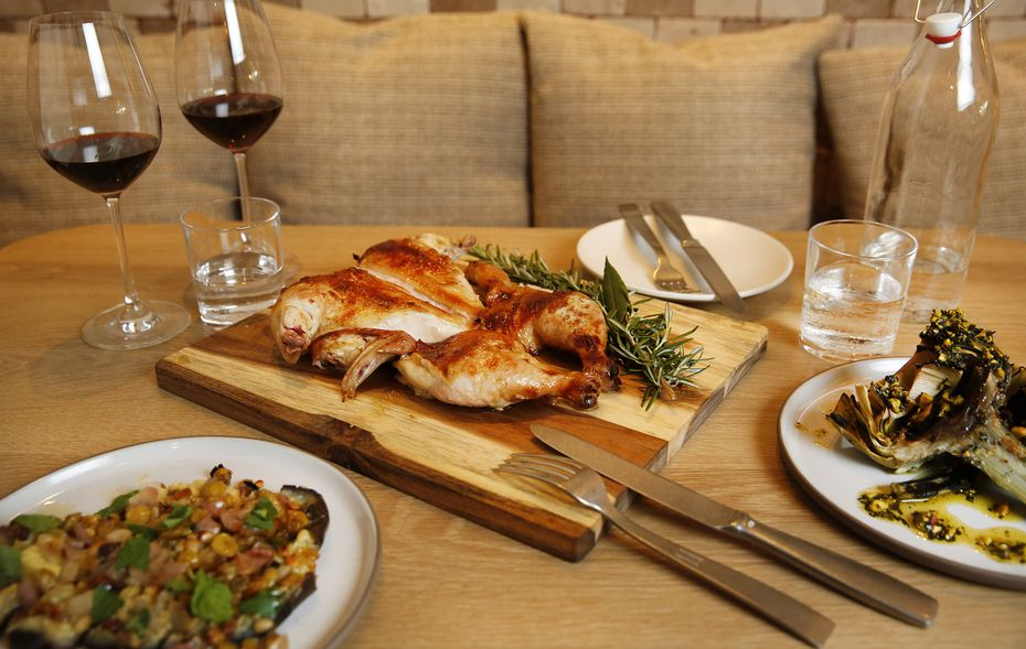 Pollo Intero is one of many wood-fired dishes at Terra, a restaurant inside Eataly at NorthPark Center in Dallas.