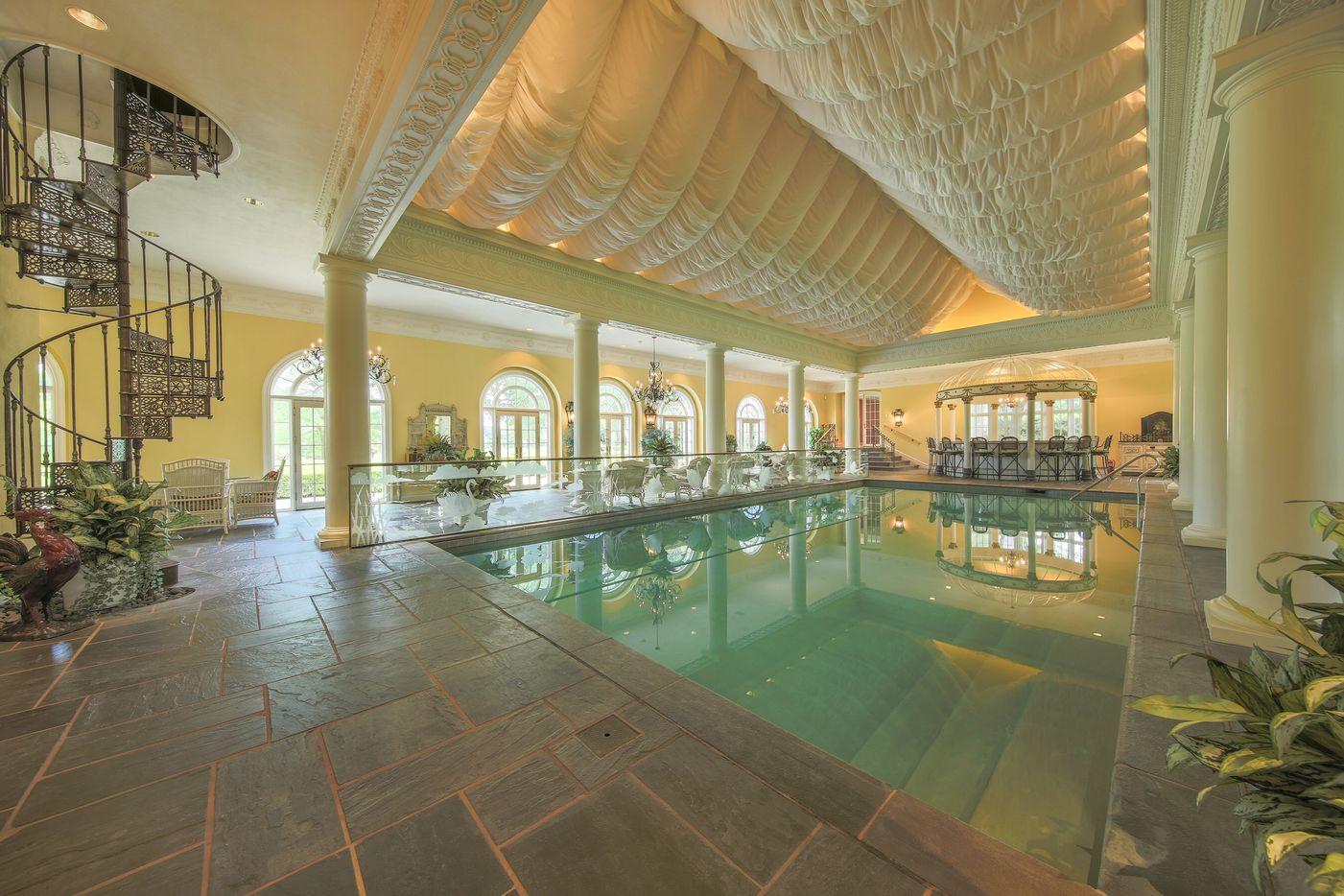 The Pilgrim estate includes a huge indoor pool.