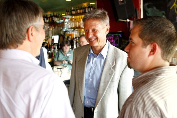 Libertarian presidential candidate Gary Johnson speaks at The Free Man in Deep Ellum.