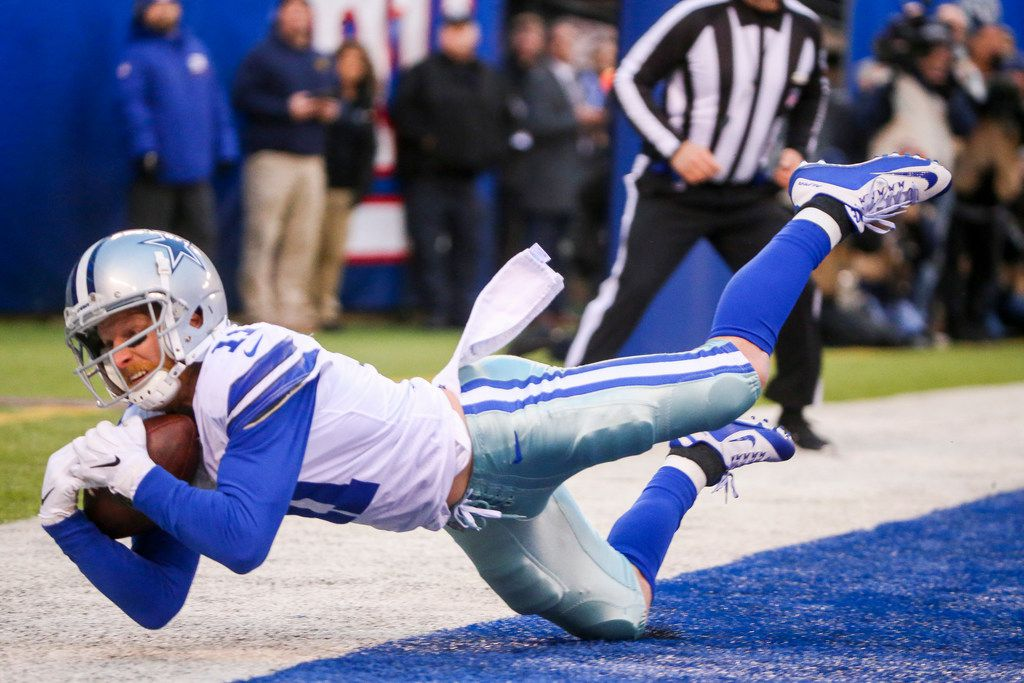Dallas Cowboys wide receiver Cole Beasley (11) makes a touchdown in the second half of an NFL football game at MetLife Stadium in East Rutherford, New Jersey on Sunday, Dec. 30, 2018. (Shaban Athuman/The Dallas Morning News)