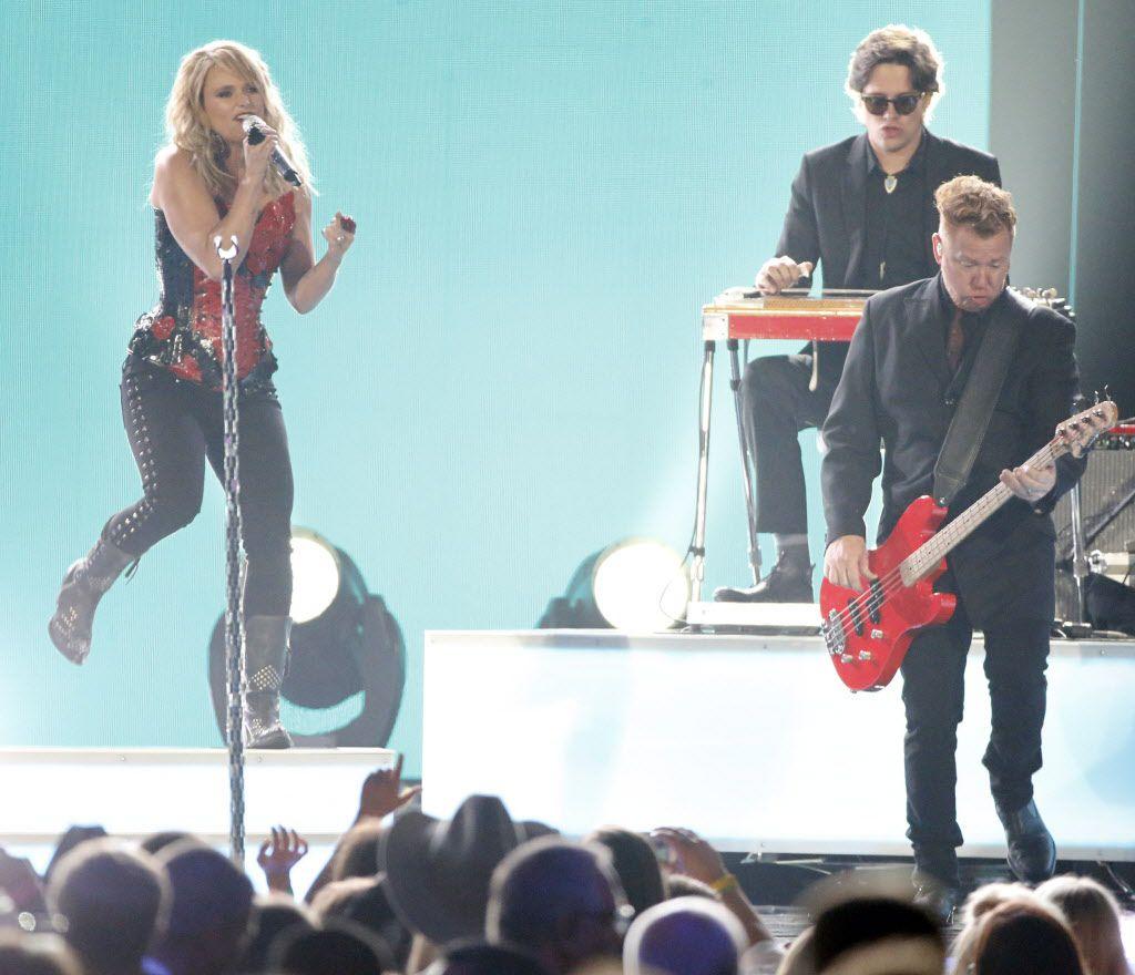 Miranda Lambert performs during the 2015 Academy of Country Music Awards Sunday, April 19, 2015 at AT&T Stadium in Arlington, Texas.