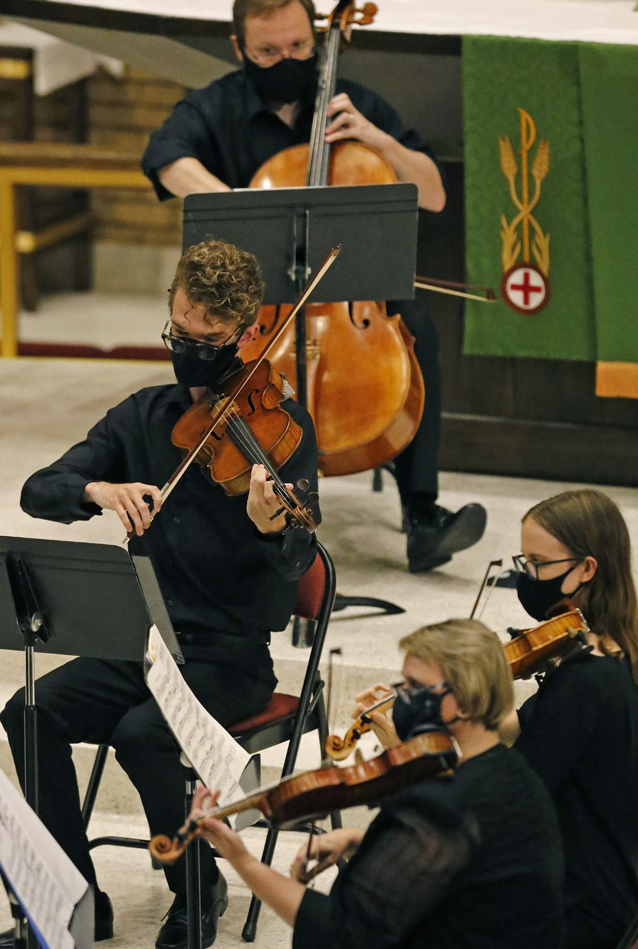 The Orchestra of New Spain performed a concert of music by Black composers to celebrate Juneteenth at the Zion Lutheran Church in Dallas on June 12.