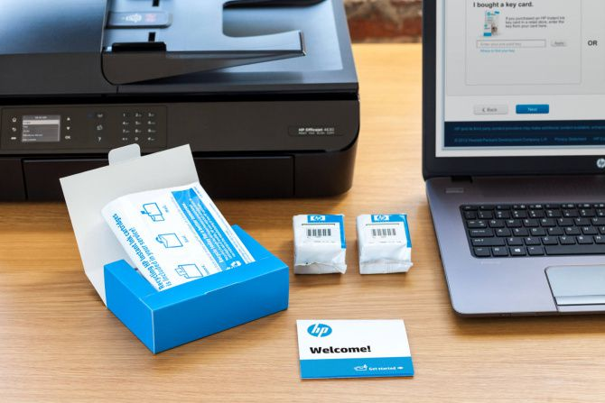 An ink delivery from HP Instant Ink