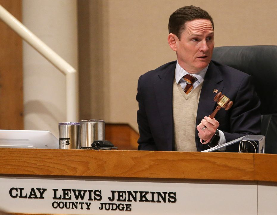 Dallas County Judge Clay Jenkins speaks during a meeting of The Dallas County Commissioners Court on Tuesday, Jan. 15, 2019.