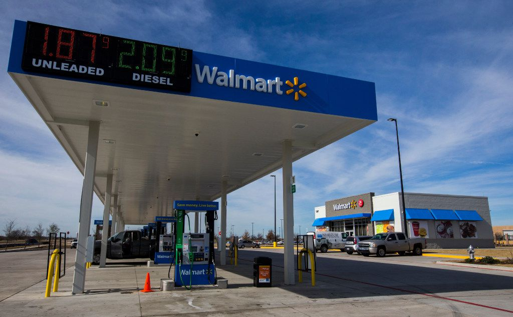 The exterior of a new Walmart convenience store on Wednesday, February 8, 2017 on FM 1187 in Crowley, Texas. (Ashley Landis/The Dallas Morning News)