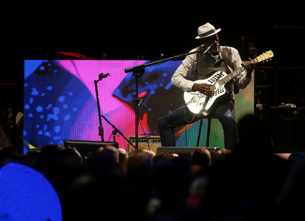 Keb' Mo' performs at the Crossroads Guitar Festival on Saturday, Sept. 22, 2019 at the American Airlines Center in downtown Dallas. The concert put together by Eric Clapton, which benefits his Crossroads addiction recovery center, took place over two nights with different performers each night.