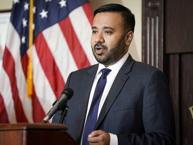 Acting U.S. Attorney Prerak Shah, shown at a news conference at the FBI's Dallas field office in June, has been in his role since January.