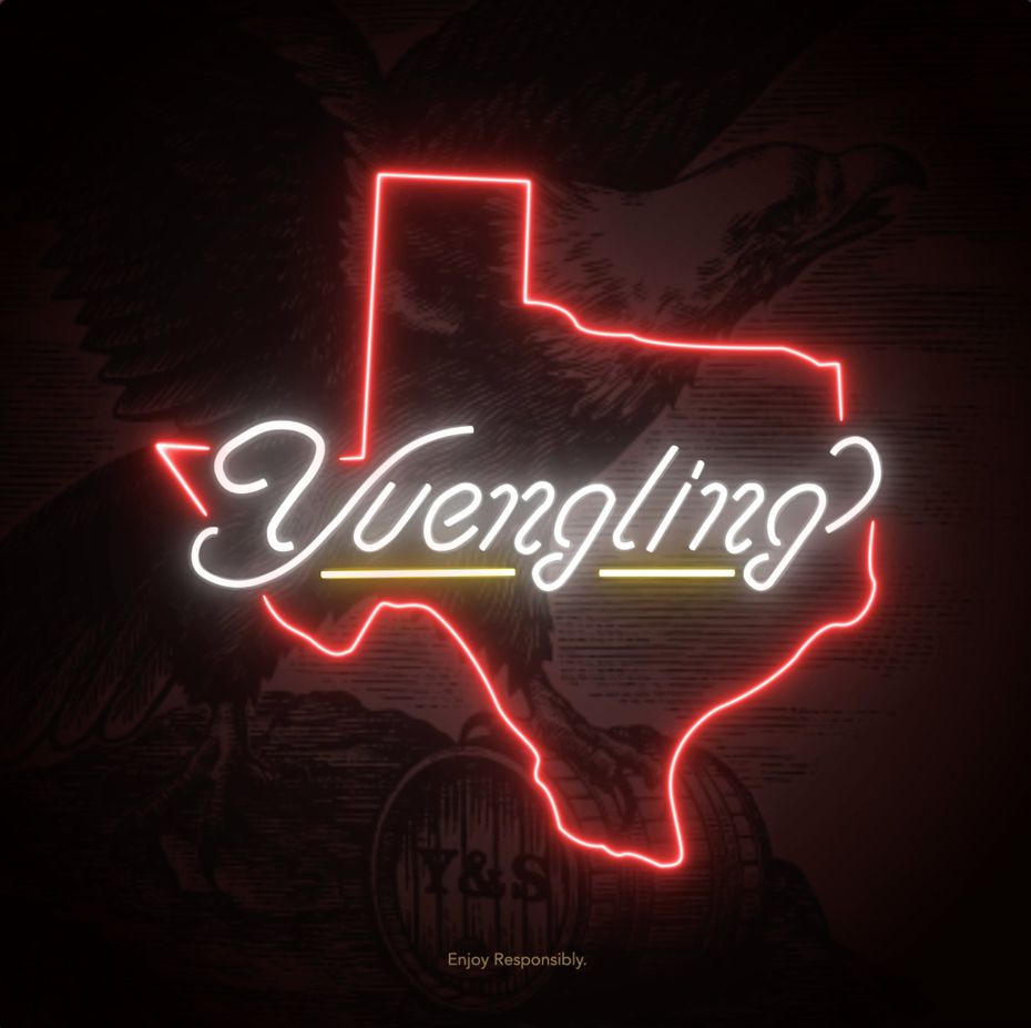 This rendering of a neon sign was created when Yuengling partnered with Molson Coors. They formed a joint venture and are opening a Fort Worth headquarters under the name the Yuengling Company. The company will lead the beer brand's western expansion into Texas and beyond.