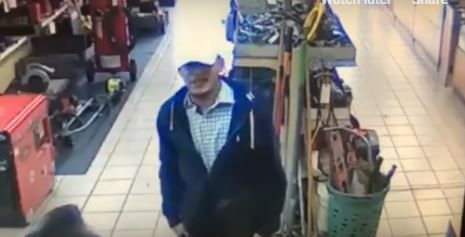 Dallas police are searching for a Hispanic man of thin build with tattoos on his face and neck who wore a dark jacket and a baseball cap into a store in north Oak Cliff as he stole a ring.