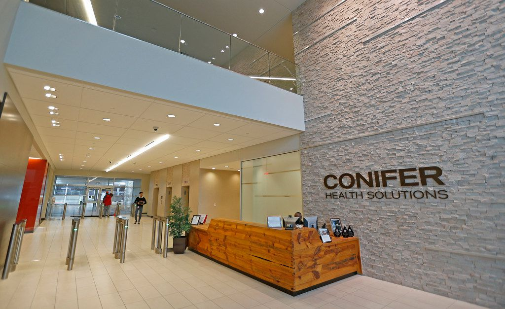The lobby at Conifer Health Solutions in Frisco.