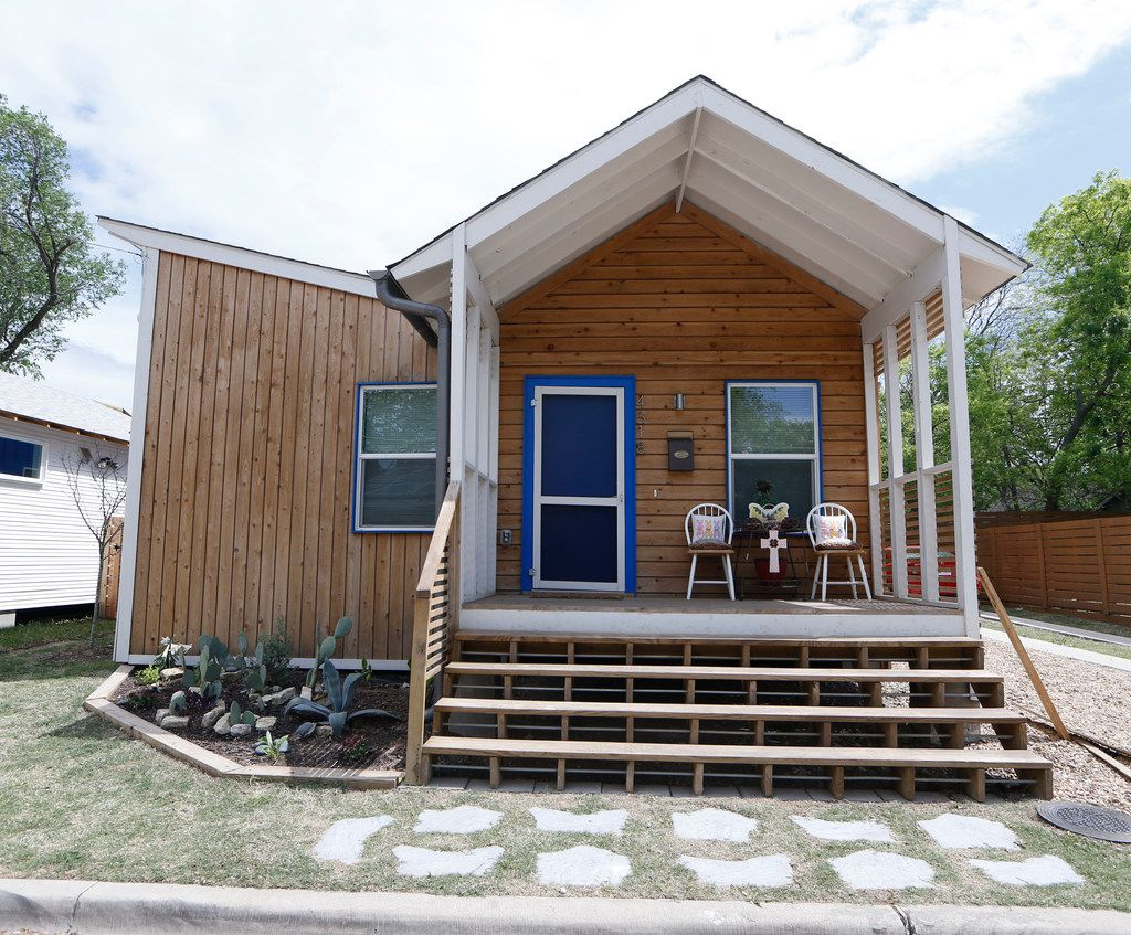 4518 Congo st. built by Community Housing Development Corporations which are being effectively cut out of the comprehensive housing policy in Dallas on April 5, 2018.  (Nathan Hunsinger/The Dallas Morning News)