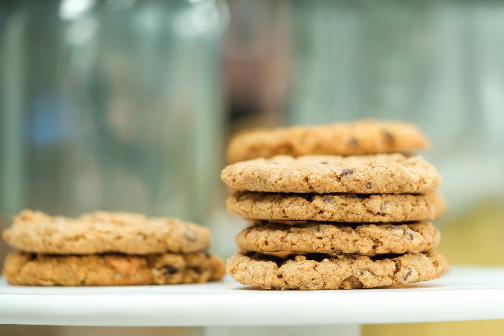 A stack of original Miracle Milkookies lactation cookies photographed on May 6, 2019, in Dallas. Whitney Rowell is the founder and CEO of Miracle Milkookies, a lactation cookie to help new/nursing mothers boost their milk production.