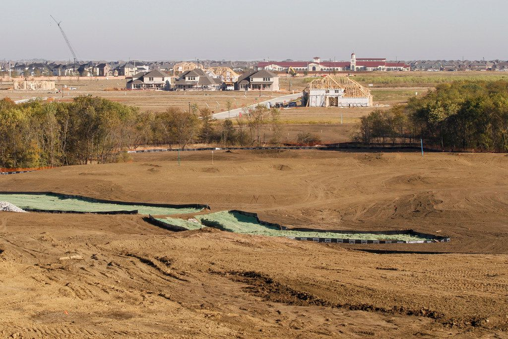 An example of the topography found on the West Course of PGA Frisco.