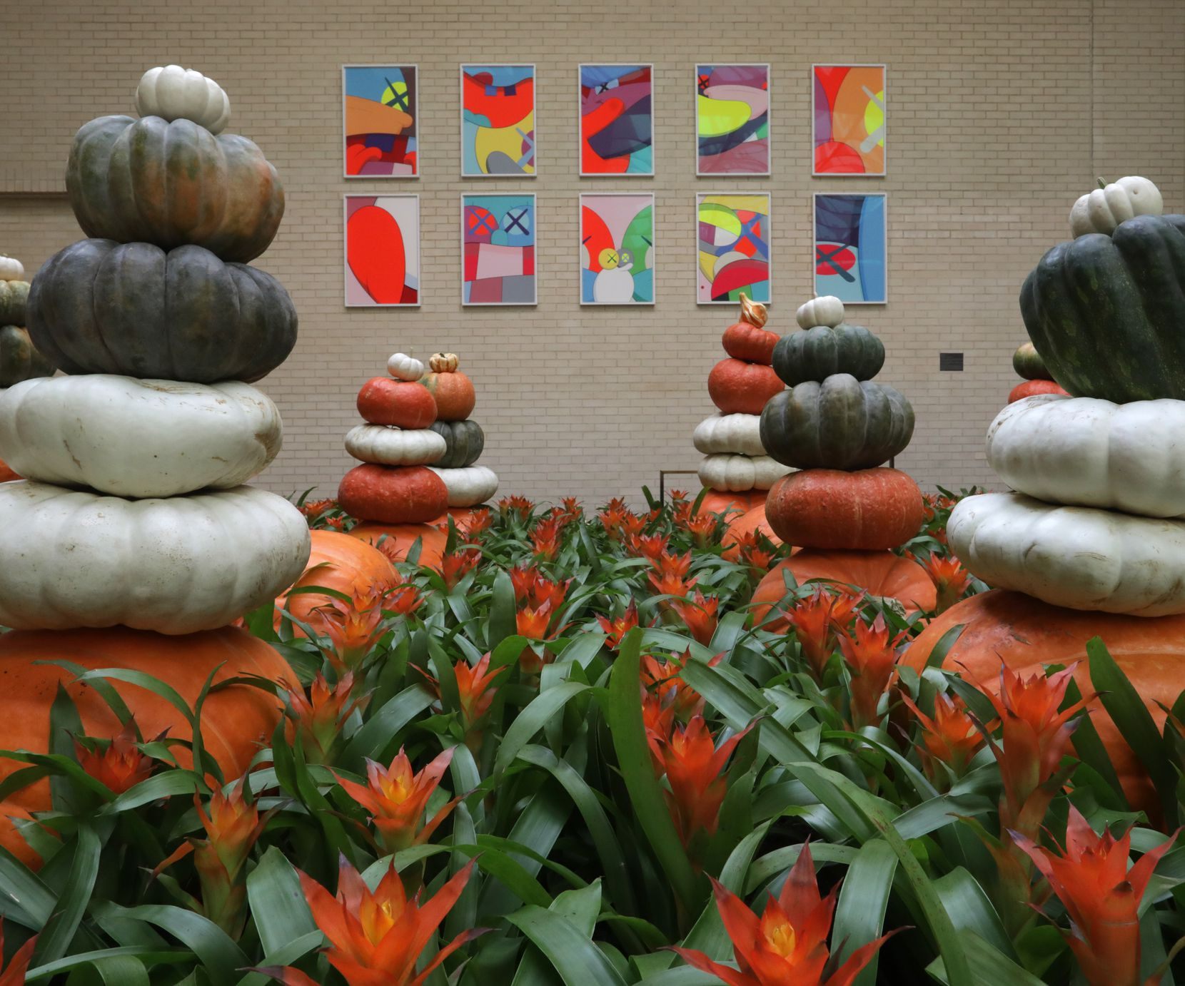 The new seasonal landscaping displays at NorthPark Center in Dallas.