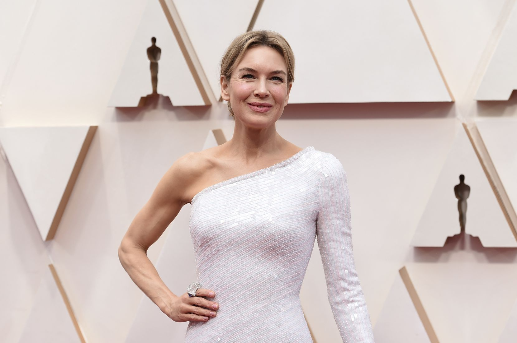 Renée Zellweger arrives for the 92nd Oscars at the Dolby Theatre in Hollywood, California on Feb. 9, 2020.