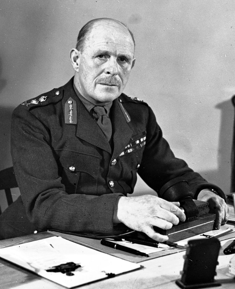 General John Gort, Commander in-Chief of the British Expeditionary Force, BEF, at GHQ in Arras, France, 0ct. 15, 1941. Gort devised Operation Dynamo, the plan of evacuation for British troops and equipment from the French port of Dunkirk in May and June 1940.