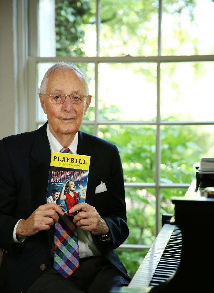 "Roger Horchow, a Tony Award-Winning producer, has produced Broadway shows that include ""Annie,"" ""Gypsy,"" ""Curtains,"" ""Kiss Me, Kate,"" and Crazy for You."" His latest production is ""Bandstand: The New American Musical."" He was photograph at his Dallas home Tuesday April 18, 2017. Composer George Gershwin played on Horchow's piano. (Andy Jacobsohn/The Dallas Morning News)"