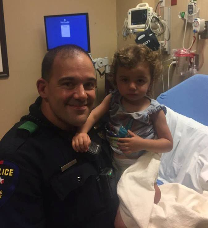 Plano police Officer Coy Clements and Ariana Yousif